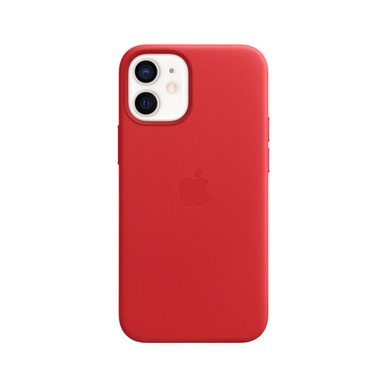 Apple iPhone 12 Mini Leder Case mit MagSafe - Rot