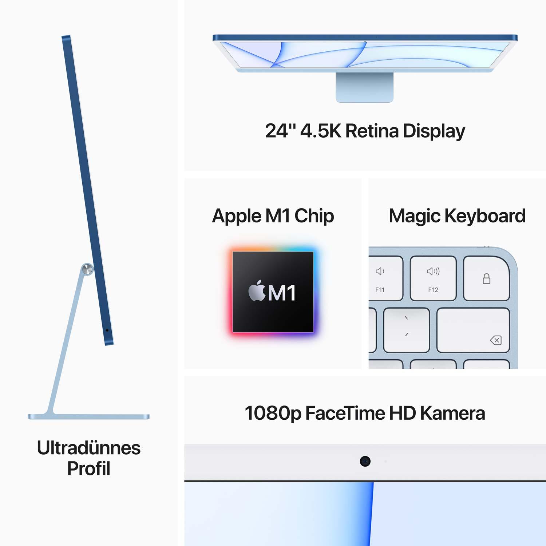 iMac 24'' M1 7-Core GPU silber - 8GB - 256GBSSD - Maus