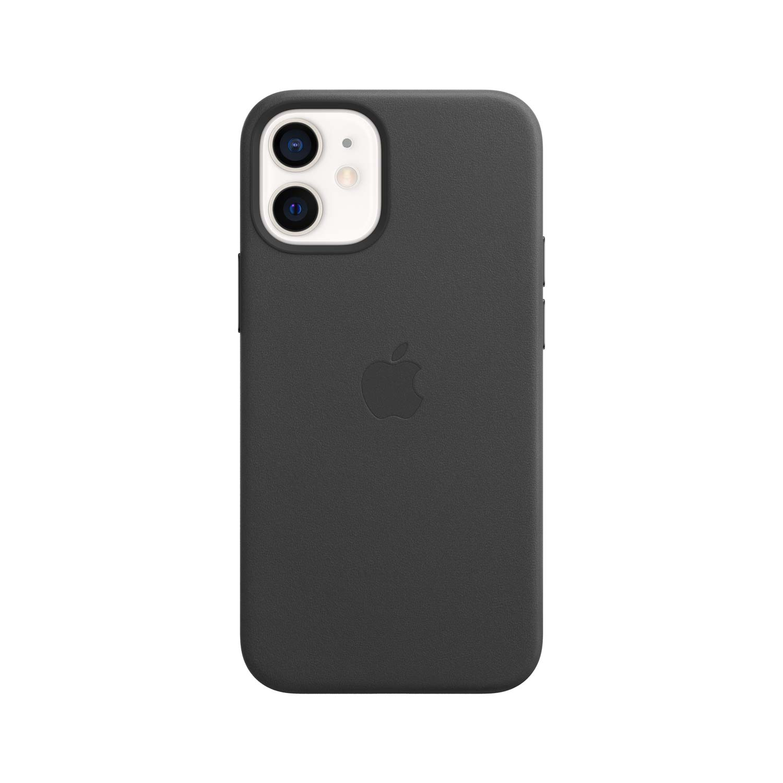 Apple iPhone 12 Mini Leder Case mit MagSafe - Schwarz