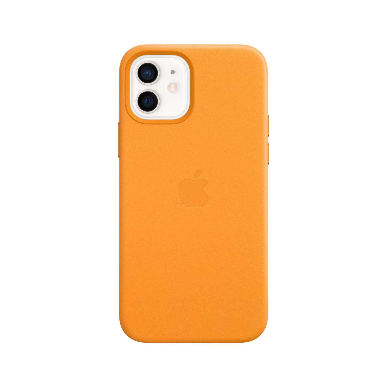 Apple iPhone 12/12 Pro Leder Case mit MagSafe - California Poppy