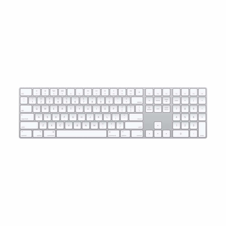 Apple Magic Keyboard mit Ziffernblock (DE) silber