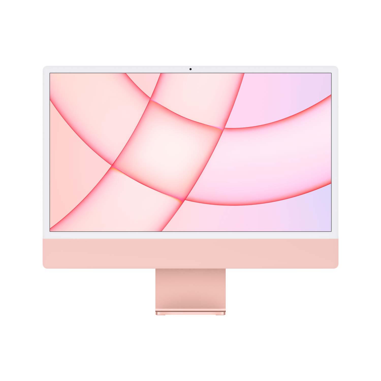 iMac 24'' M1 8-Core GPU - Gigabit Ethernet - pink - 8GB - 256GBSSD - Maus - TID