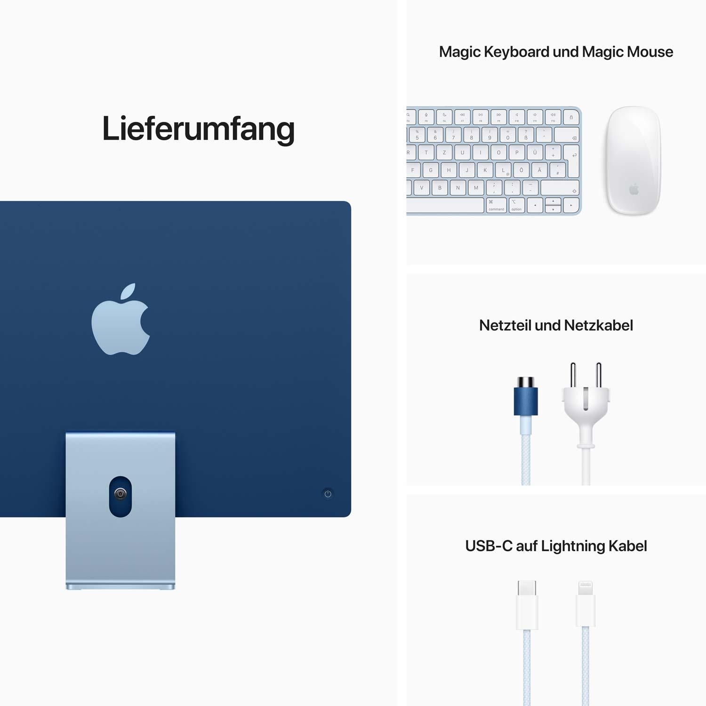iMac 24'' M1 7-Core GPU blau - 8GB - 256GBSSD - Maus