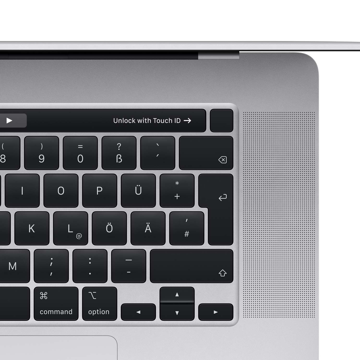MacBook Pro 16'' Touch-Bar Silber - 2.3-i9-8core - 16GB - 1TBSSD - 5500-4GB