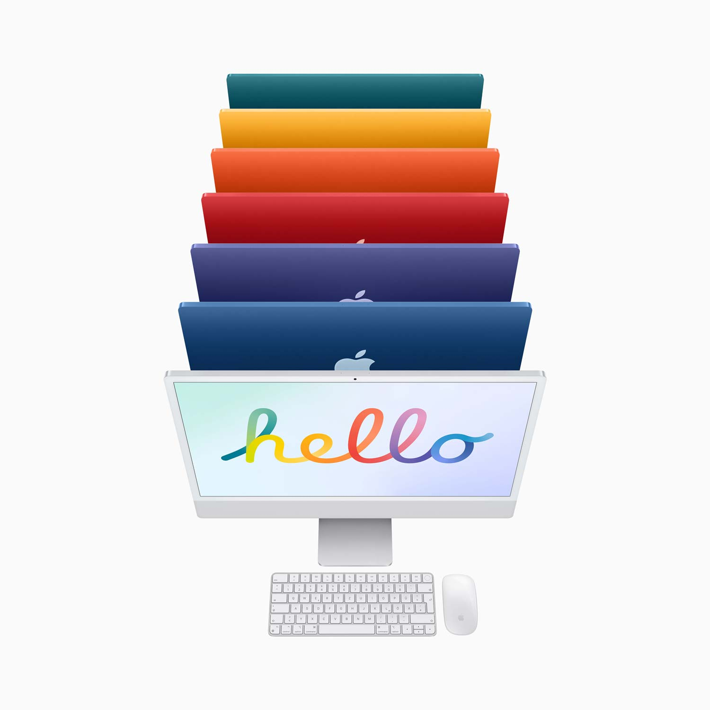 iMac 24'' M1 8-Core GPU - Gigabit Ethernet - gelb - 8GB - 256GBSSD - Maus - TID